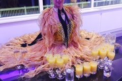 Gold and Black Showgirl living drinks table