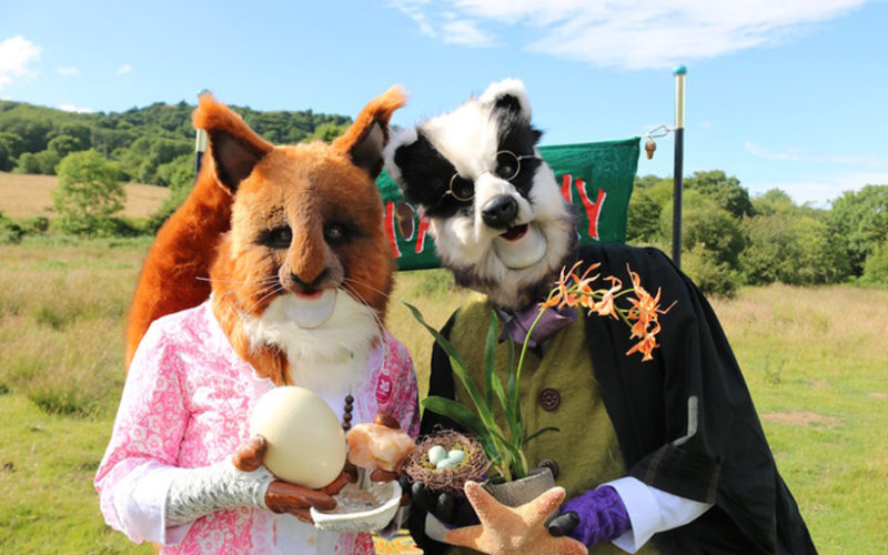 Acorn Academy - Squirrel and badger walkabout characters