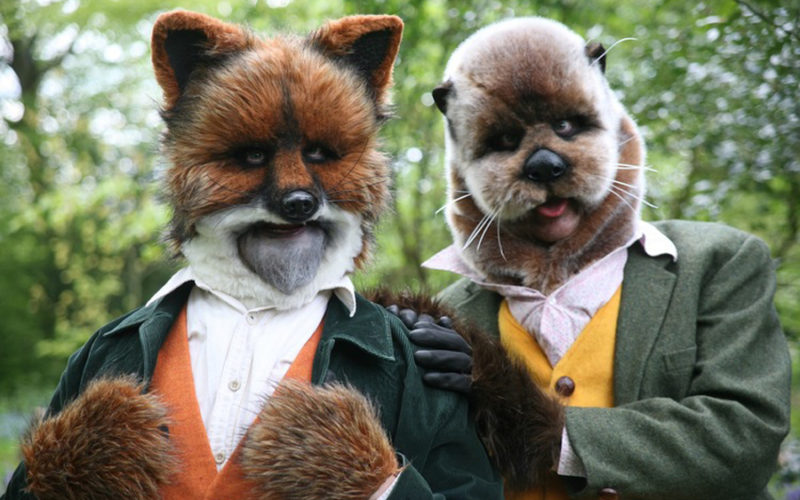 Teddy & Otto - Fox and otter walkabout characters