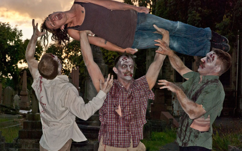 Zombie Chaps - Halloween themed acrobatic walkabout act