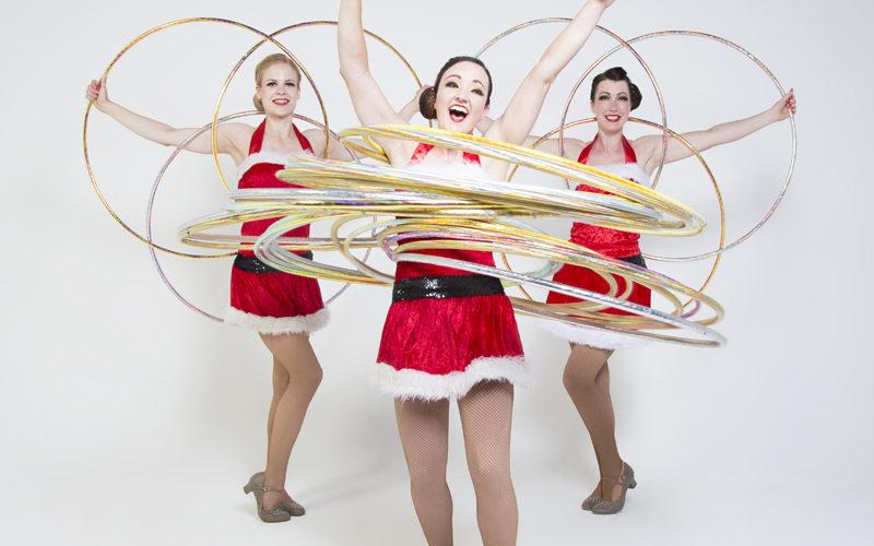 Hoop La La Xmas - Christmas themed hula hoop trio