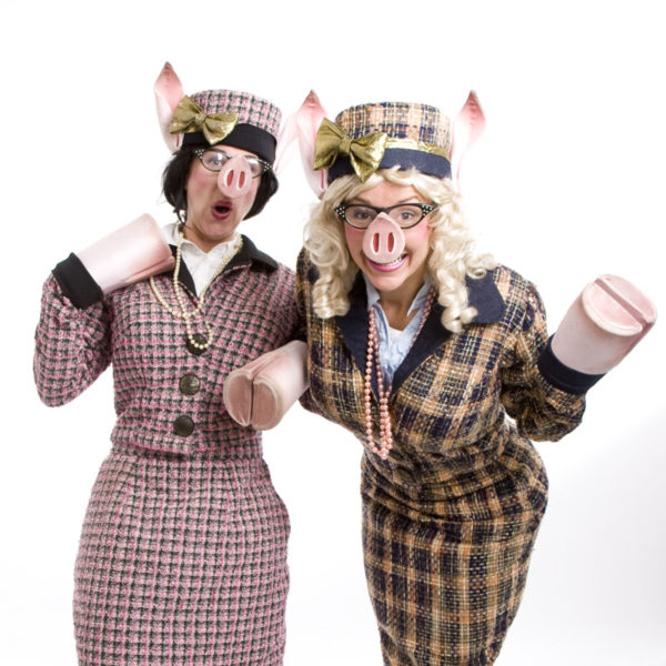 Posh Pigs - Comedy walkabout characters