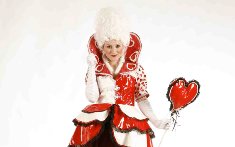 Queen of Hearts - Alice in Wonderland themed stilt walker