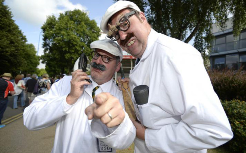 The Umpires Strike Back - Comical cricket themed walkabout characters