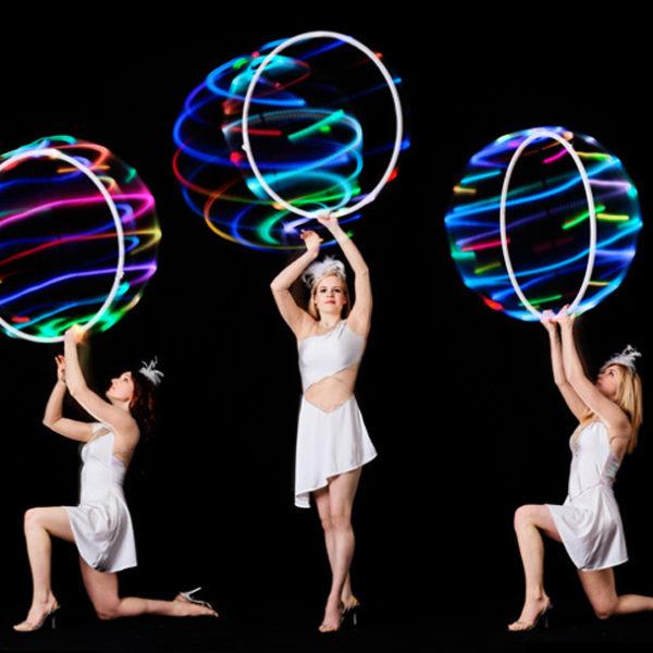 Hoop La La LED - LED lit hula hoop trio performance