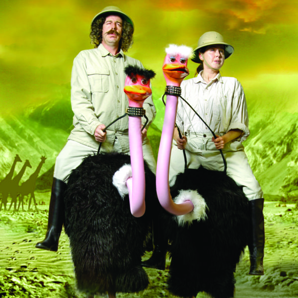 Ostriches - Stilt walking walkabout characters