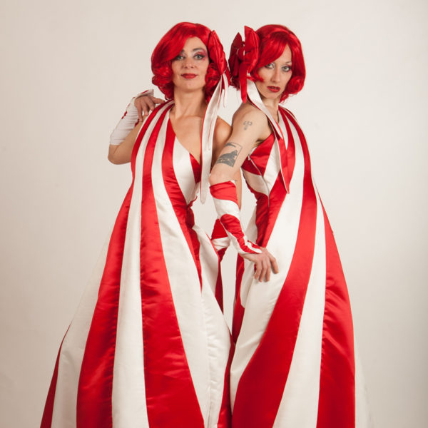 Candy Cane Queens - Stilt walkers