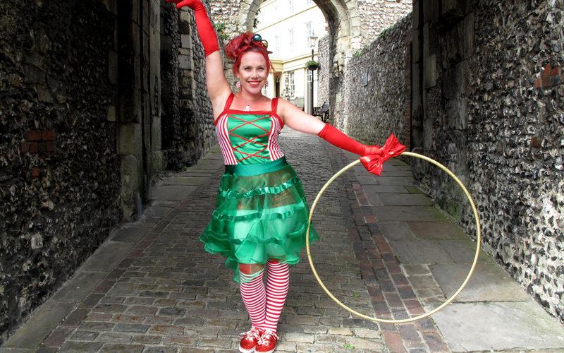 Angie Mack Festive Hoops - Christmas themed hula hoop walkabout
