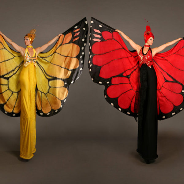 Mariposa - Butterfly stilt walkers