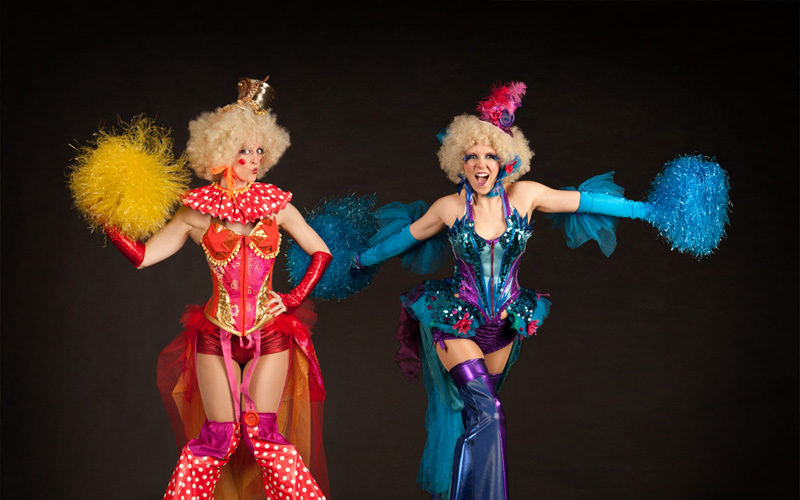 Circus Belles - Stunningly costumed circus themed stilt walkers