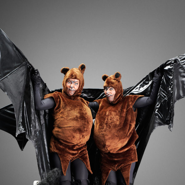 Flying Fox Bats - Comedy stilt walking bat characters