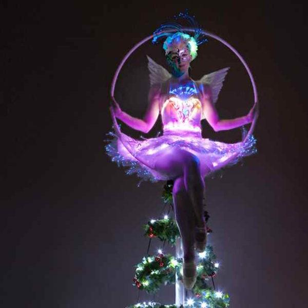 La Luna Christmas - Christmas themed free standing aerial hoop act