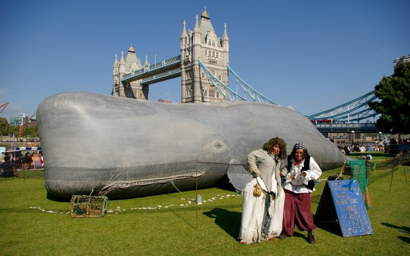 The Whale - Storytelling street theatre inside a 50ft sperm whale